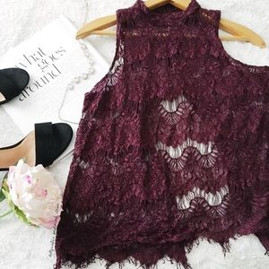 Tops - Gorgeous Lace Tulip Back Top